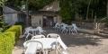 La terrasse de la piscine des Hespérides